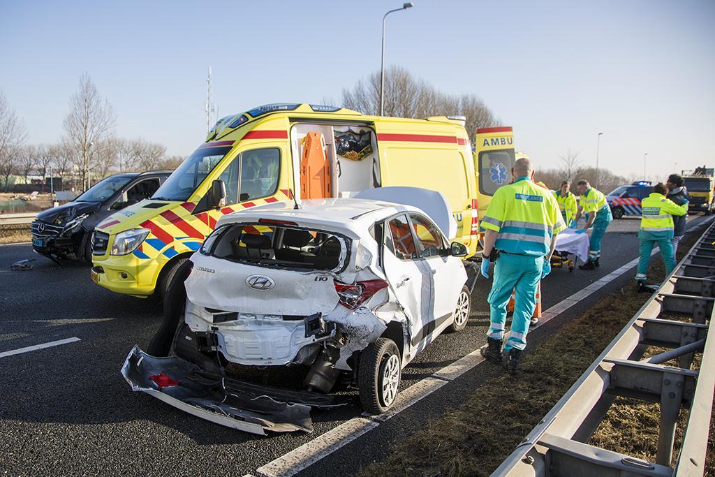 Gewonde bij ongeluk op N205