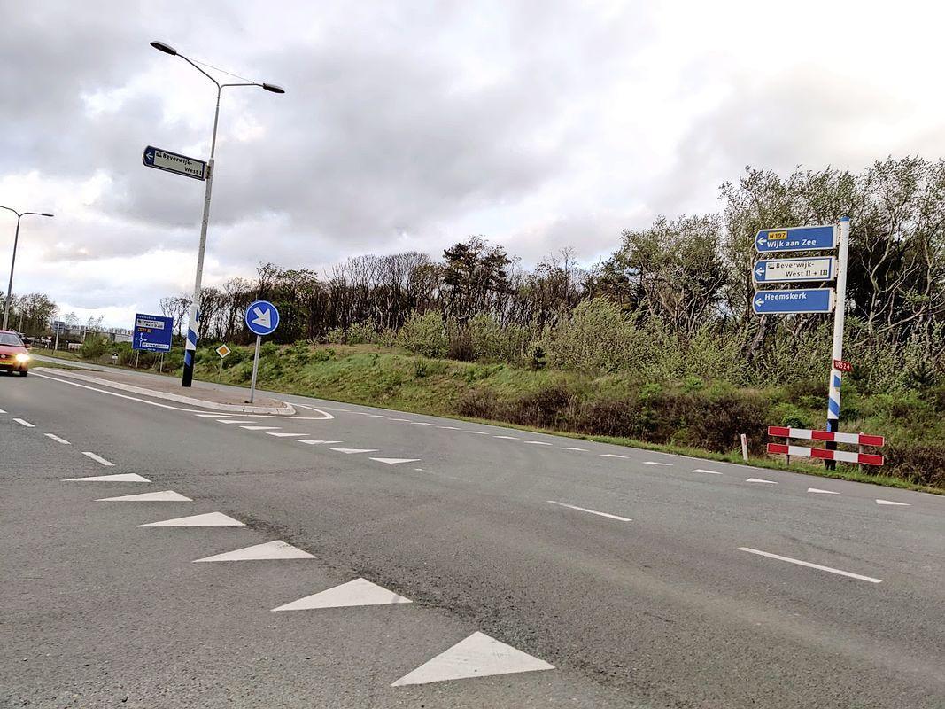Binnenduinrandweg bij Beverwijk dicht voor nieuw asfalt, omrijden tussen 25 mei en 3 juni - 's avonds en 's nachts
