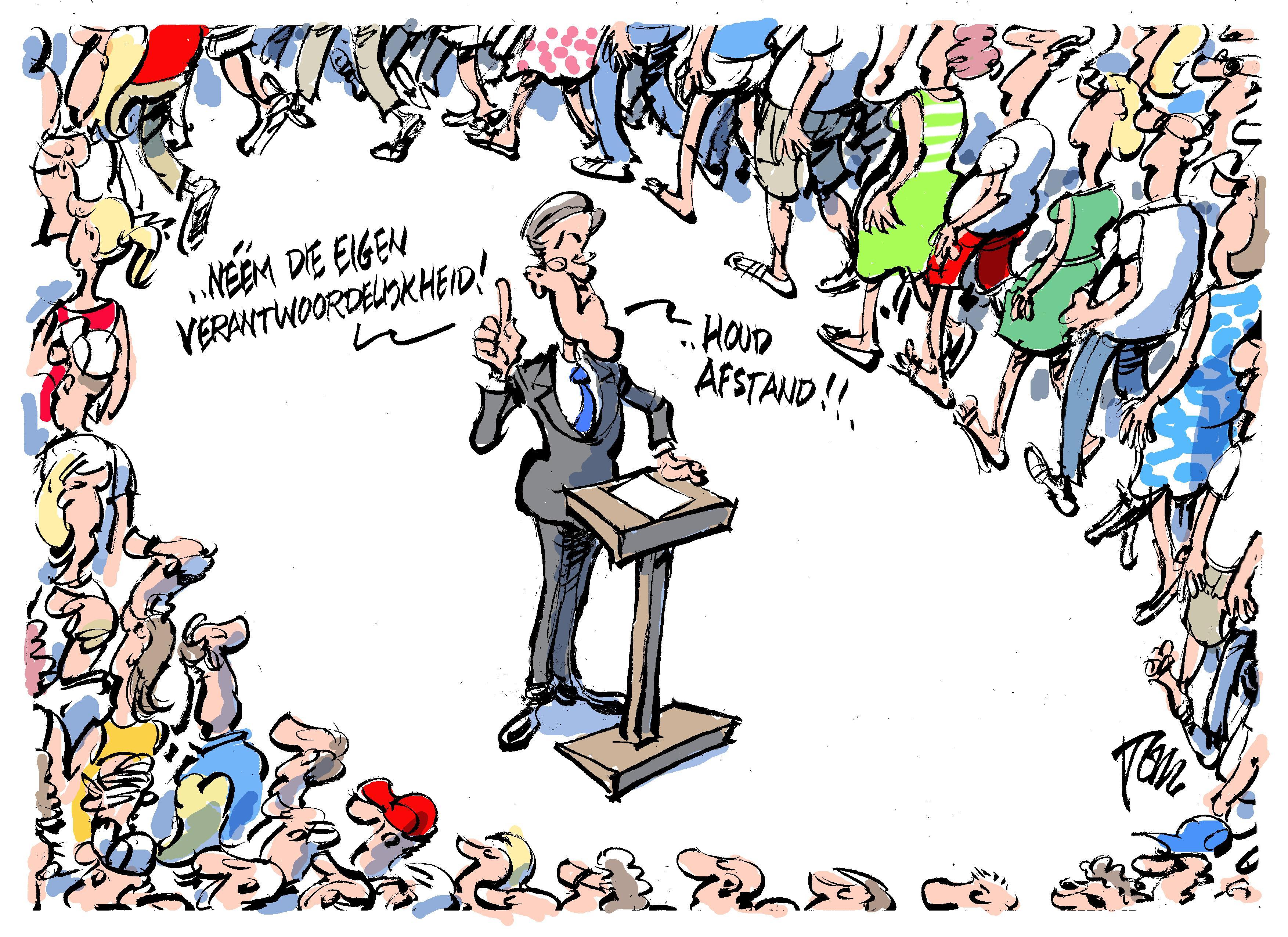 Tom Janssen komt liever met een ontwapenende cartoon uit de hoek, dan dat hij ruzie zoekt [video]