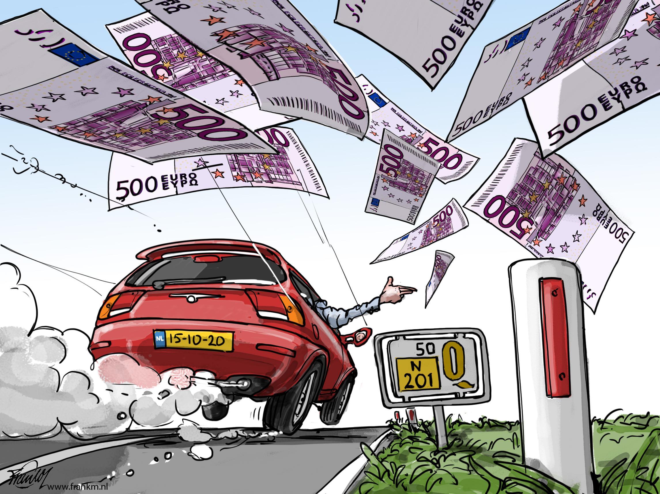 Twee stralende lichtpunten uit Vreeland op weg naar een geheide Quote 500 notering | cartoon Frank Muntjewerf