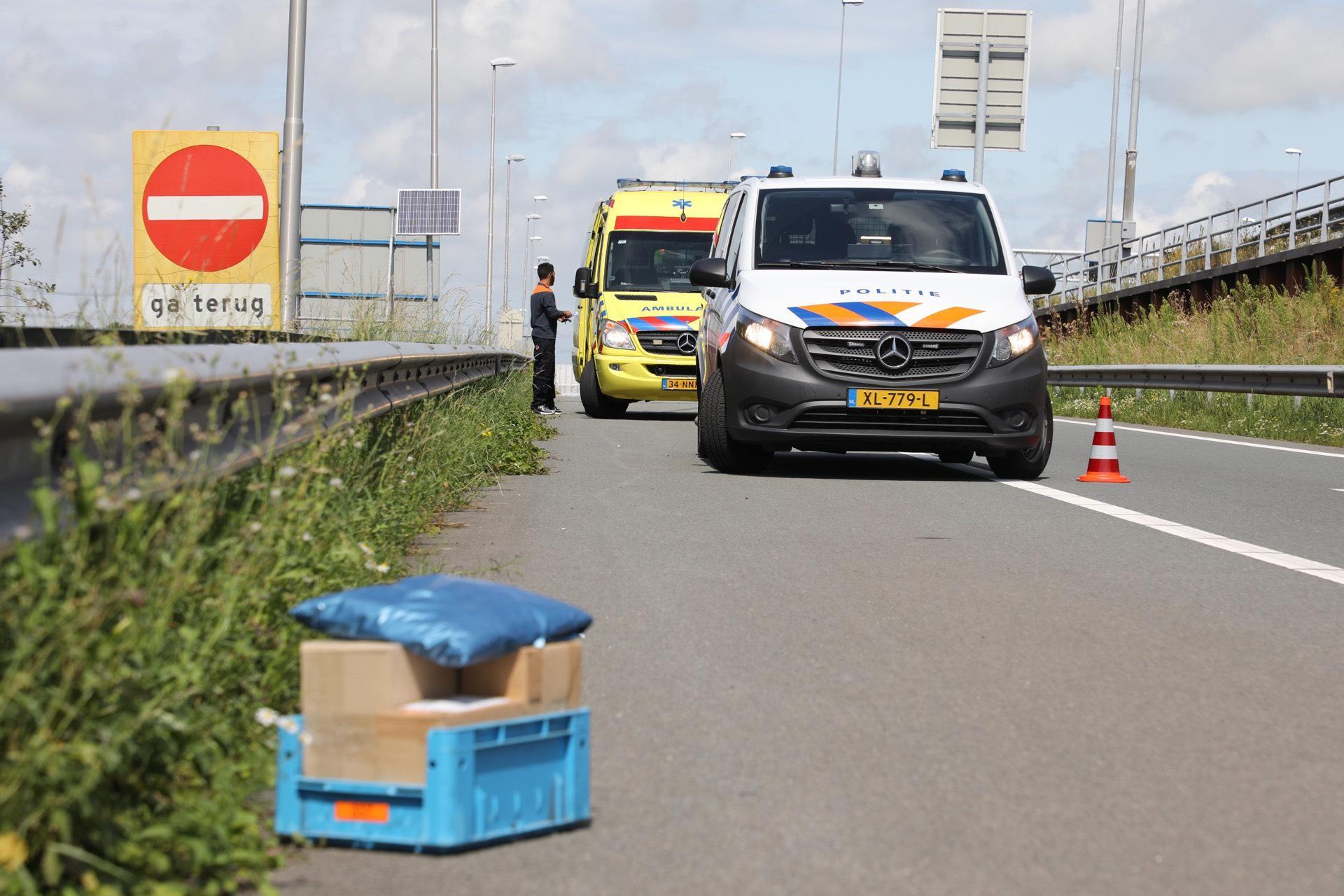Pakketbezorger gewond bij aanrijding op A9 bij Haarlemmerliede