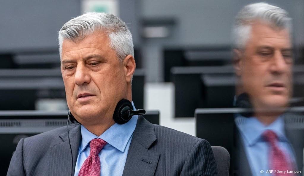 Kosovaarse oud-president Thaçi verklaart zich