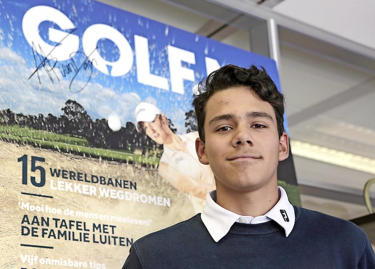 Jonge golfer Piet Hein Bakkenes zet hoog in
