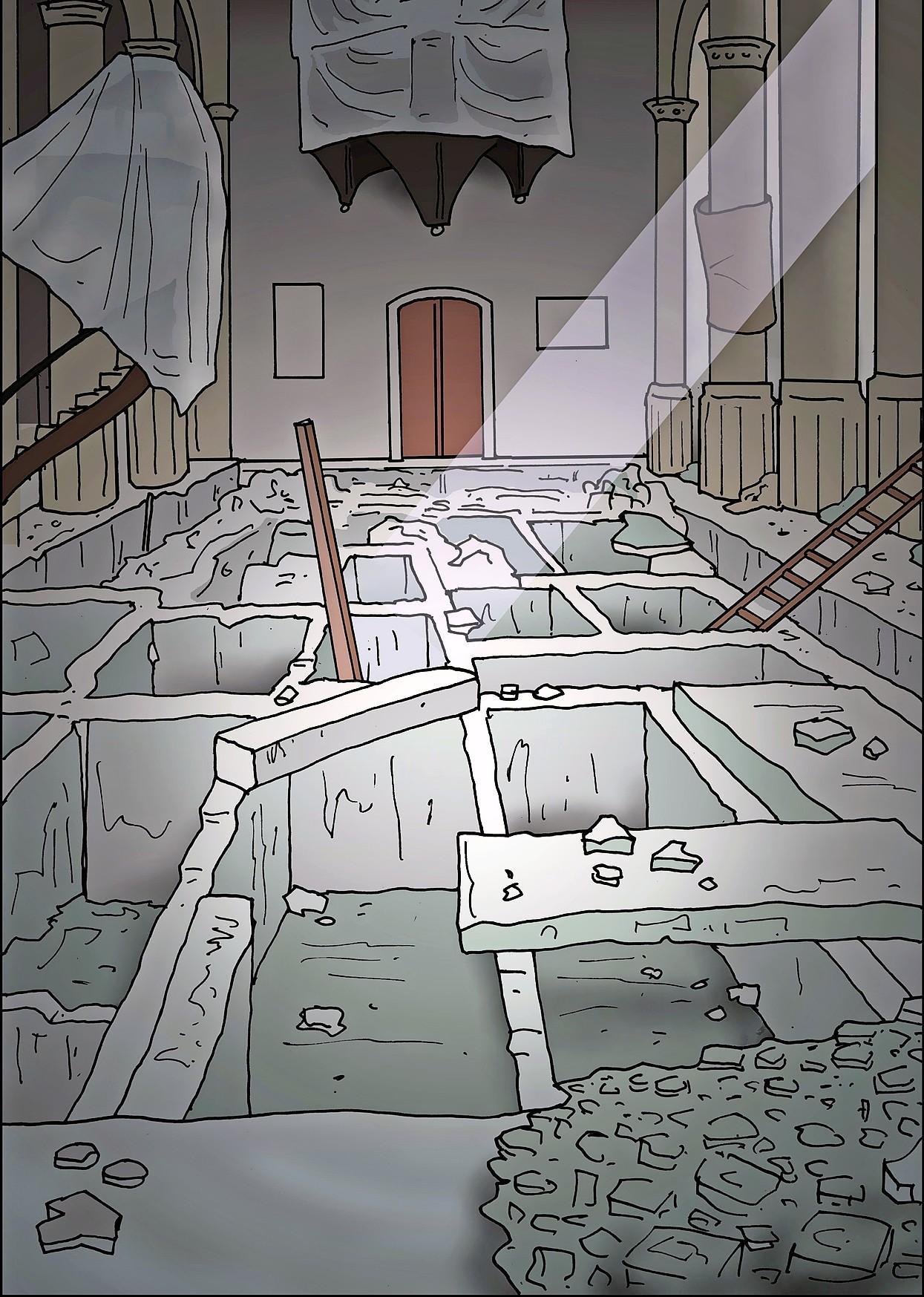 De Pieterskerk werd een zandput met luciferhoutjes; unieke middeleeuwse constructie werd achteloos vernield
