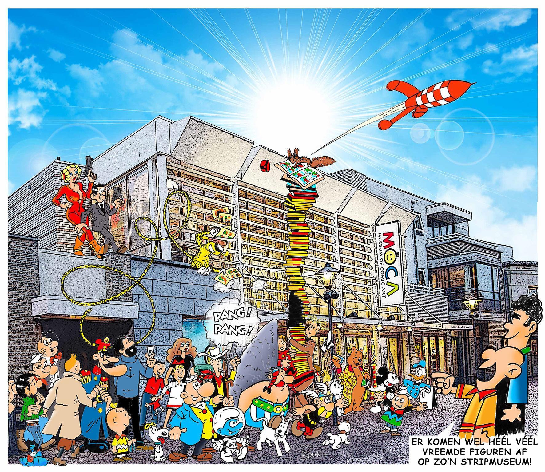 Stripmuseum in Noordwijk opent in 2021: 'Voor toeristen, maar ook voor echte stripliefhebbers'
