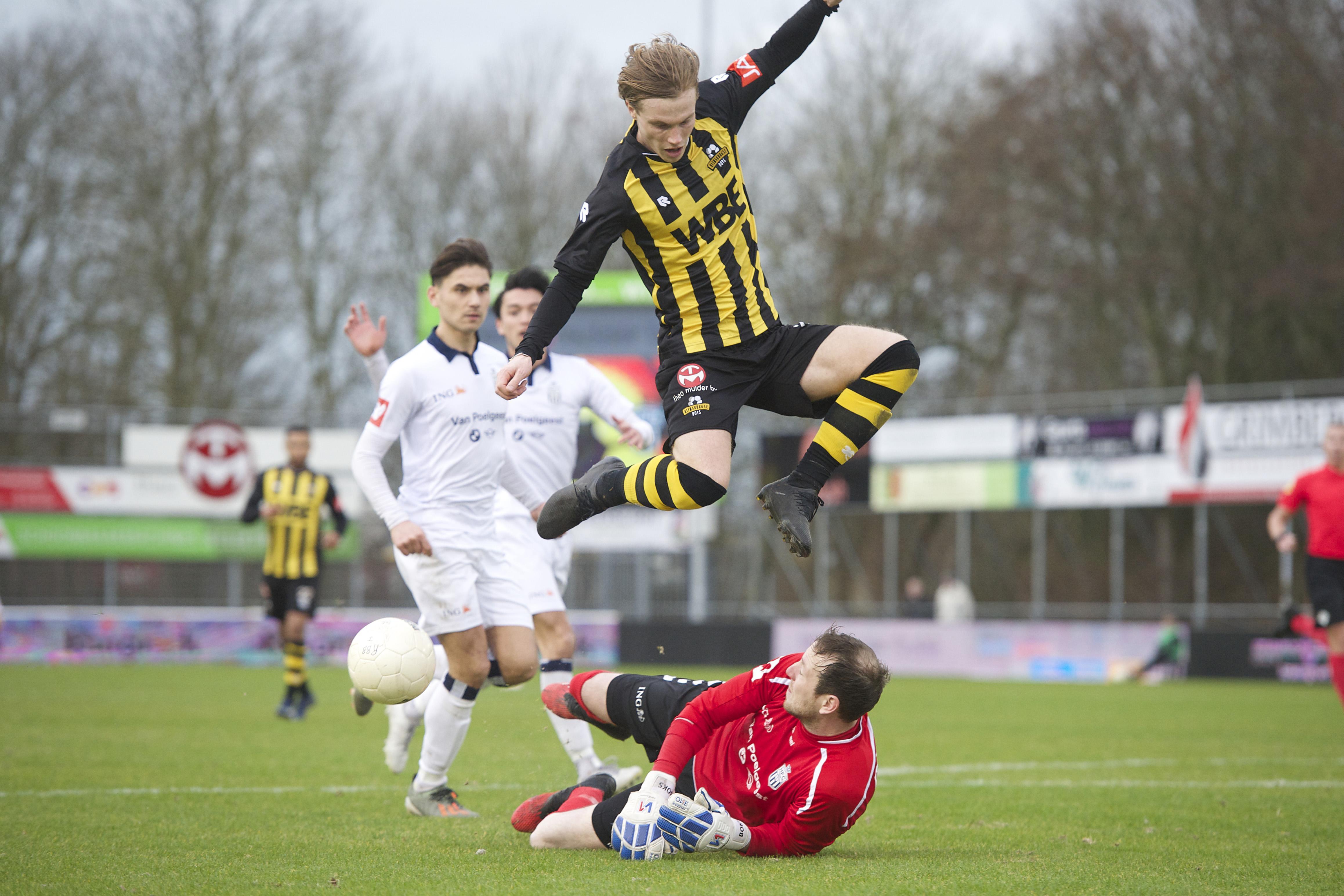 Rijnsburgse Boys breekt de ban met unieke overwinning op Koninklijke HFC