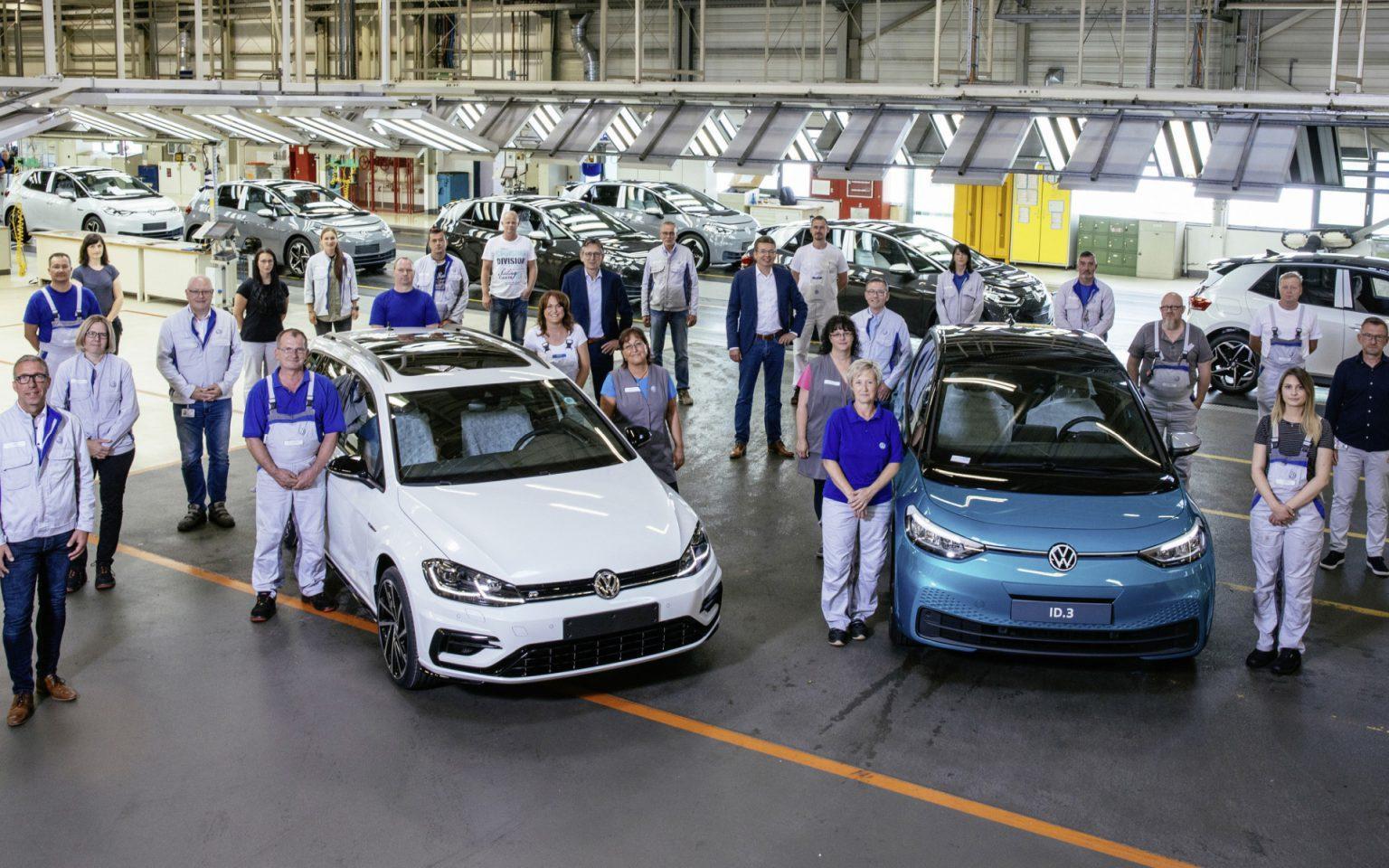 Volkswagen produceert laatste auto met verbrandingsmotor in Zwickau