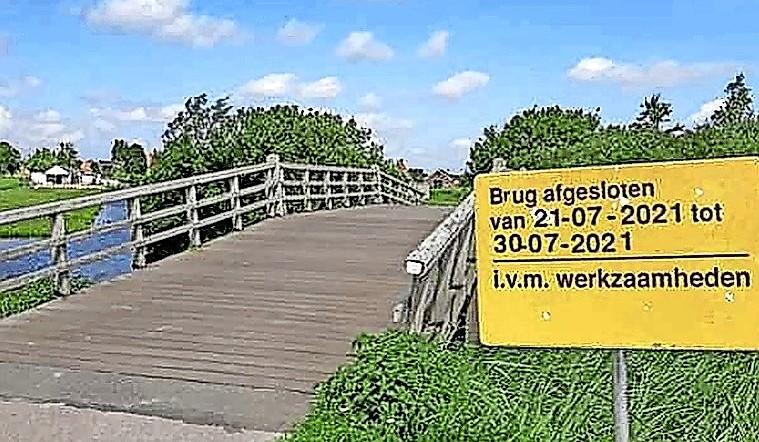 Brug in Twiske tijdelijk dicht wegens onderhoud
