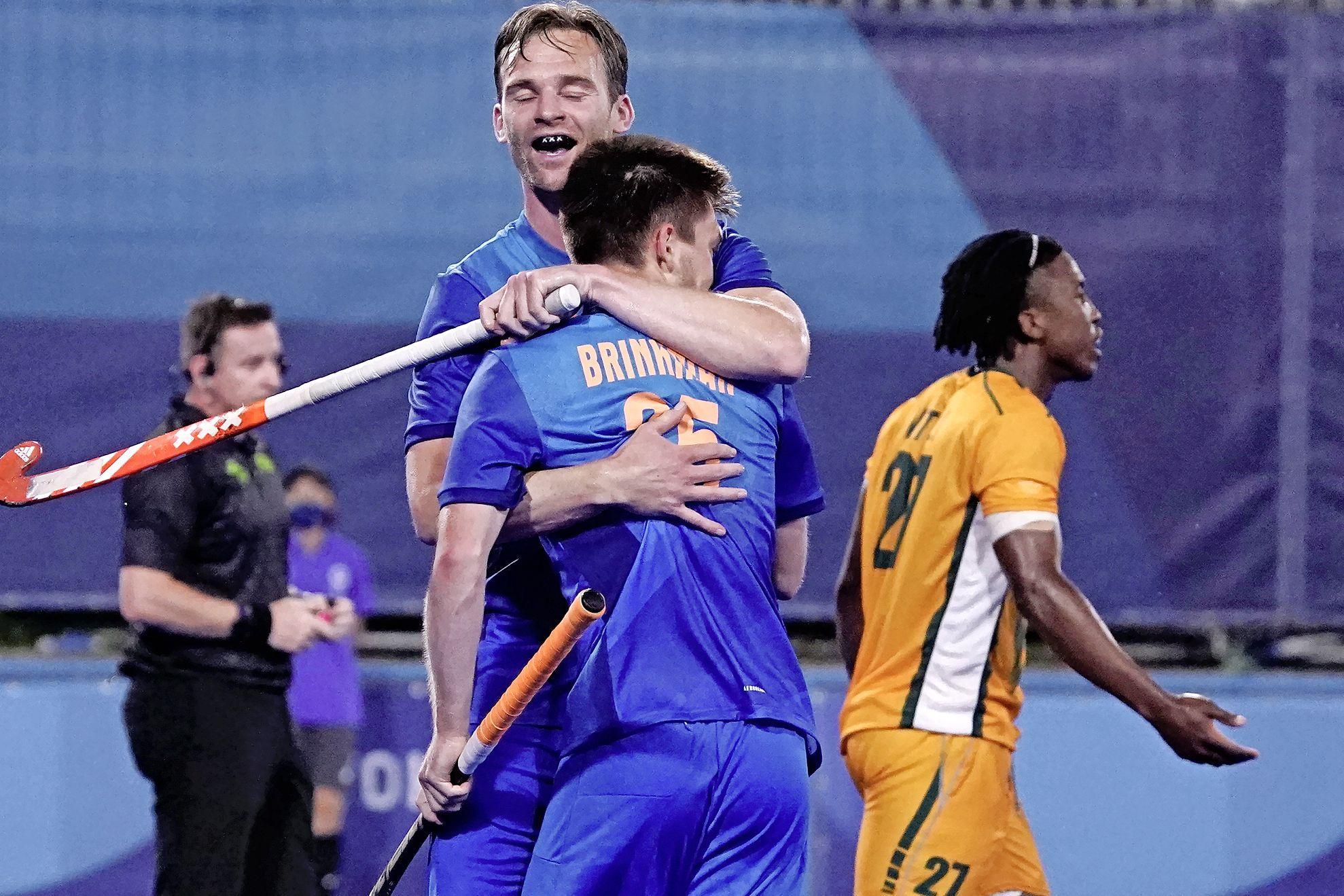 Hockeyers met heel veel moeite wel langs Zuid-Afrika