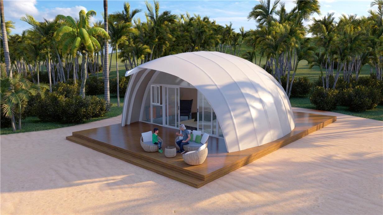 Camping De Lakens in Bloemendaal investeert in onzeker coronajaar: nieuwe tenten met ligbad, airco en zelfs een vaatwasser