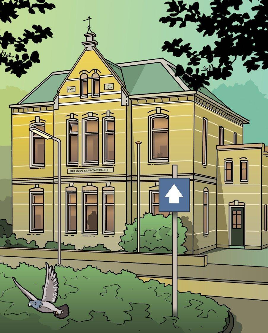 Kantongerecht Haarlemmermeer, van dezelfde ontwerper als de Haarlemse koepelgevangenis   Verscholen Haarlem