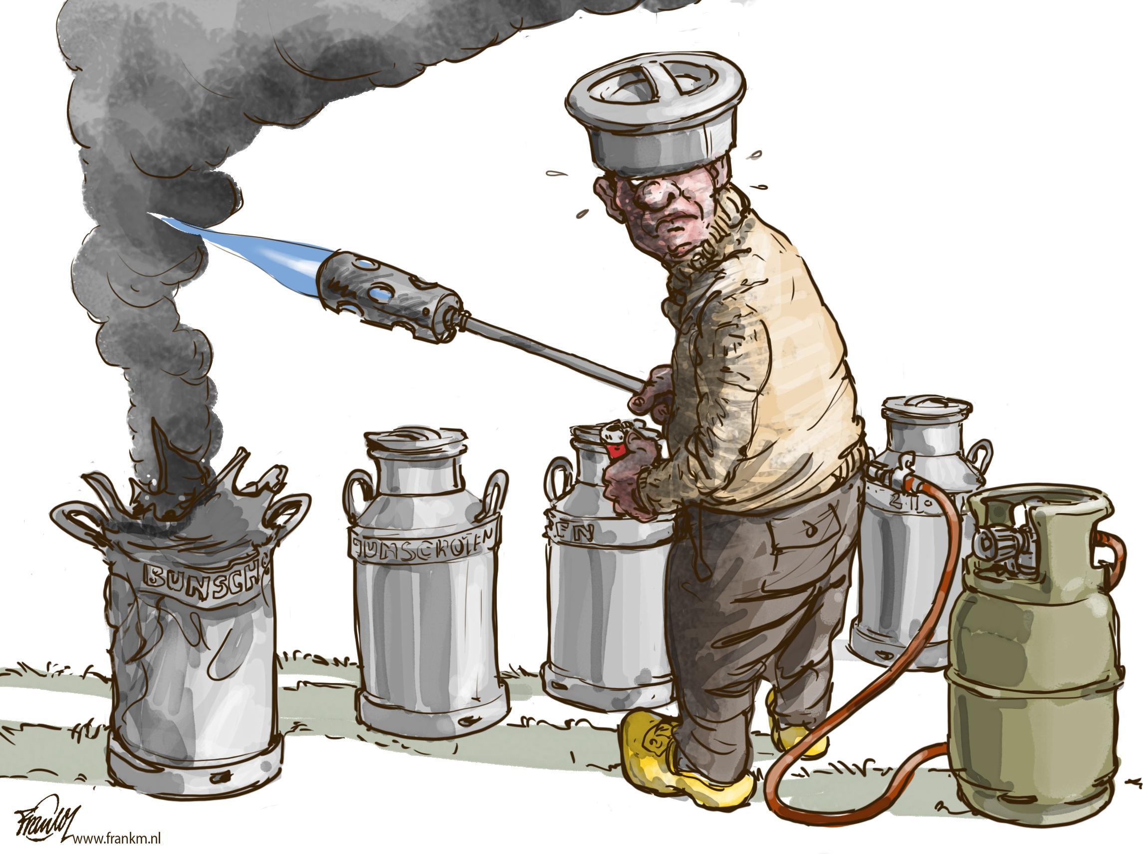 Lekker nostalgisch knallen nu vuurwerk niet meer mag | cartoon Frank Muntjewerf