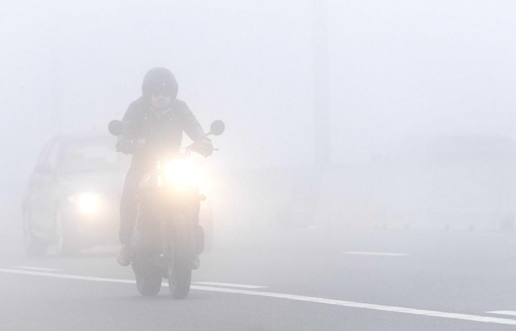 Waarschuwing voor beperkt zicht door mist