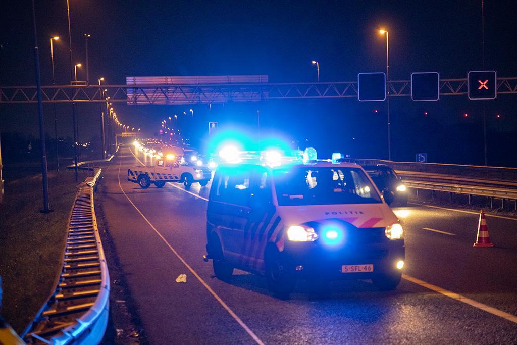 Automobilist gewond bij ongeval op A9 bij Spaarndam, file richting Alkmaar [update]