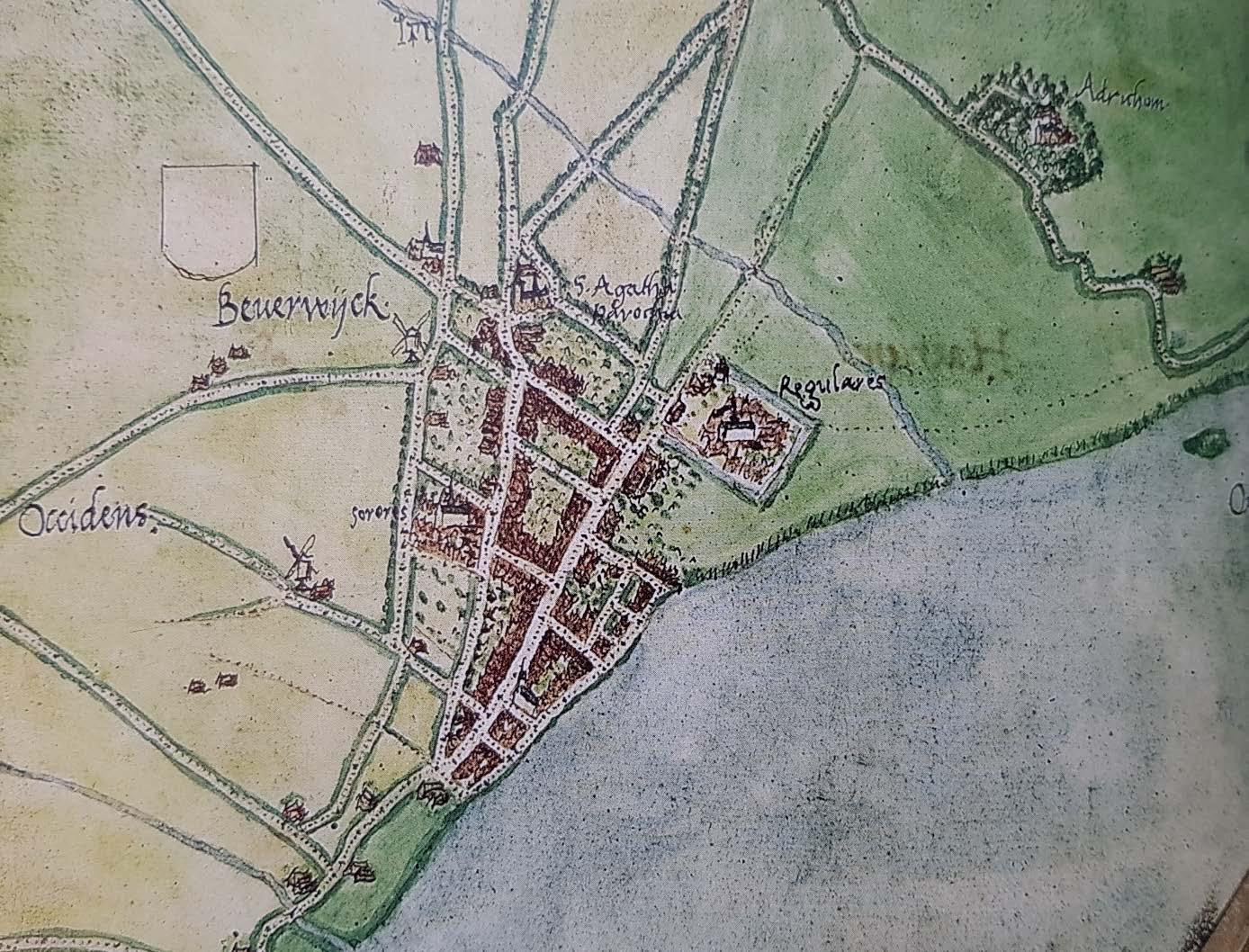 De Grote Kerk vertelt: Kerken stonden al op oudste kaart van Beverwijk