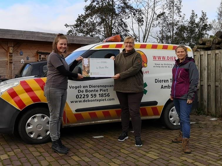 Bonte Piet gesteund door dierenkliniek uit Purmerend