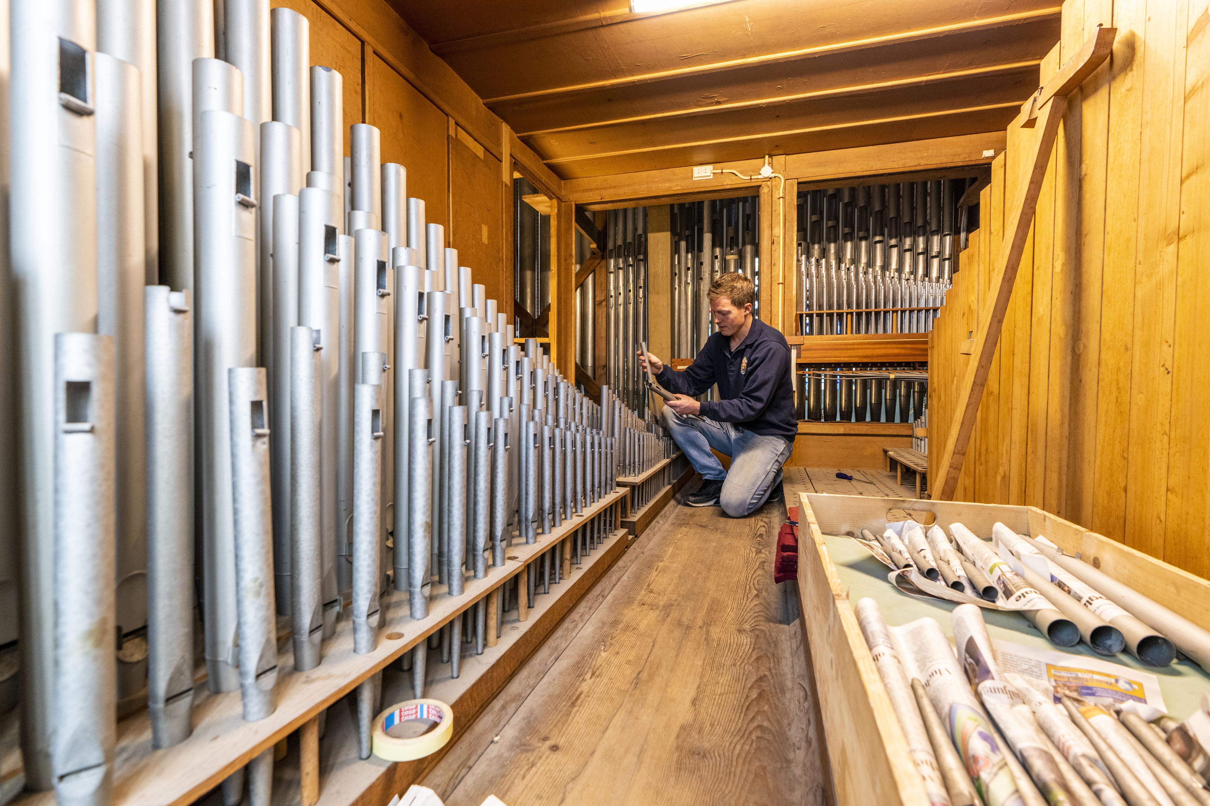 Restauratie van de 2.360 orgelpijpen is achter de rug, maar het beloofde orgelfestival blijft uit