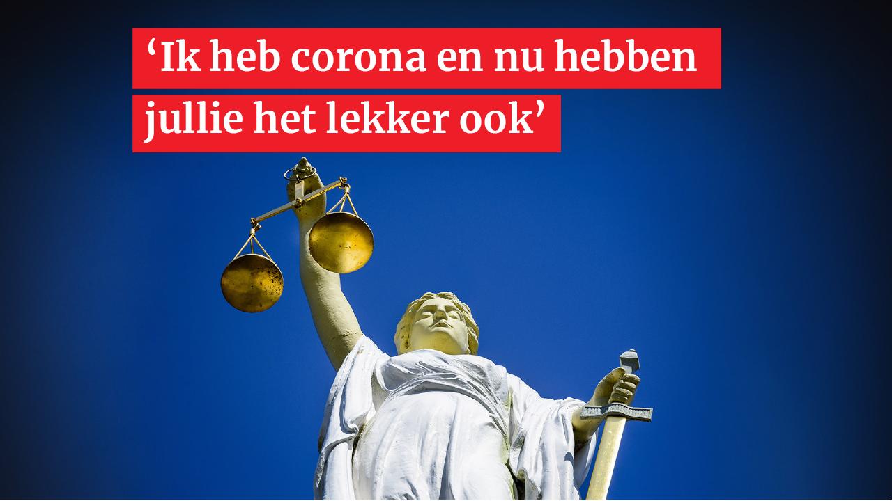 Twee maanden celstraf voor 'coronahoester' uit Noordwijkerhout die twee politieagenten in het gezicht heeft gehoest