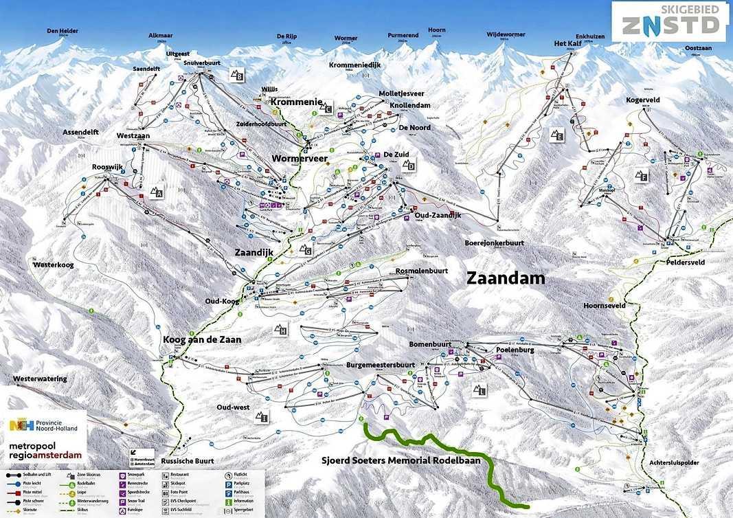 Ga op skivakantie naar Zaanstad: veel zwarte pistes en de Sjoerd Soeters Memorial Rodelbaan