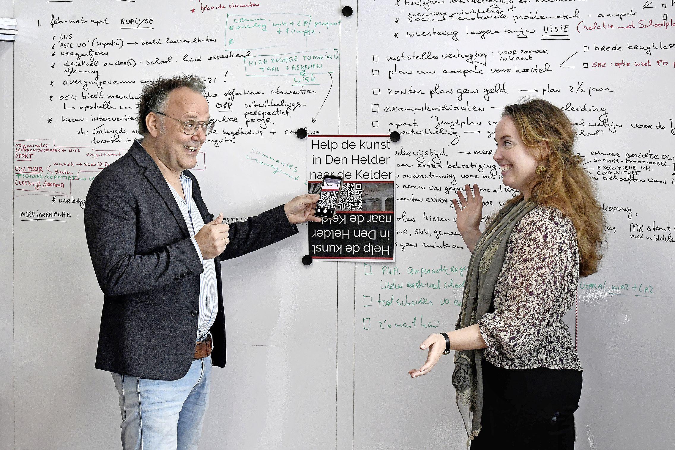Scholen aan Zee sponsort 'een muur' van het nieuwe onderkomen van Kunsthal 45. 'Museumbezoek in grote stad niet meer van deze tijd'