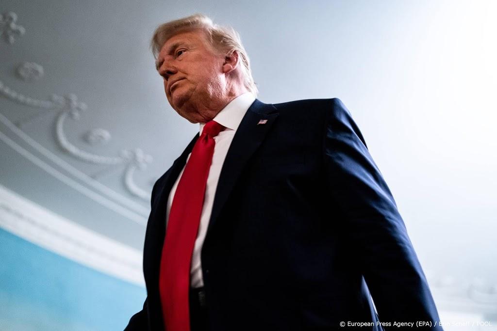 President Trump verlaat voor laatste keer het Witte Huis