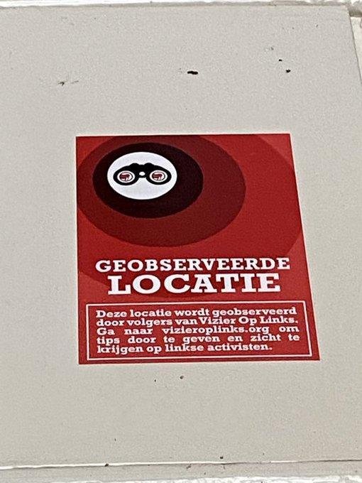 Vizier op Links plakt 'intimiderende sticker' op deur woning docent Nadia Bouras van Universiteit Leiden: 'Ik ben erg geschrokken en mijn kinderen ook'