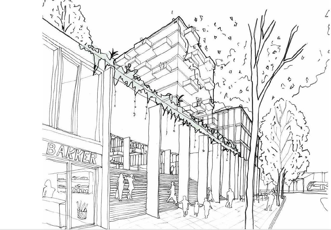 En weer een bouwplan voor het Stationsgebied. Henselmans wil 150 appartementen realiseren in Heerhugowaard