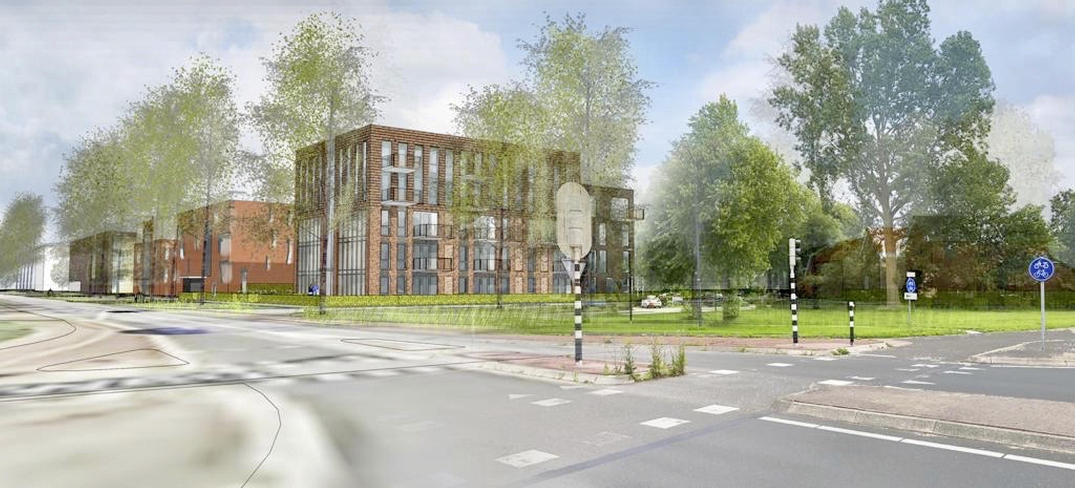 Plan voor 31 huurappartementen in Schagen, als alles 'soepel' loopt is Noorderpoort in 2023 gereed