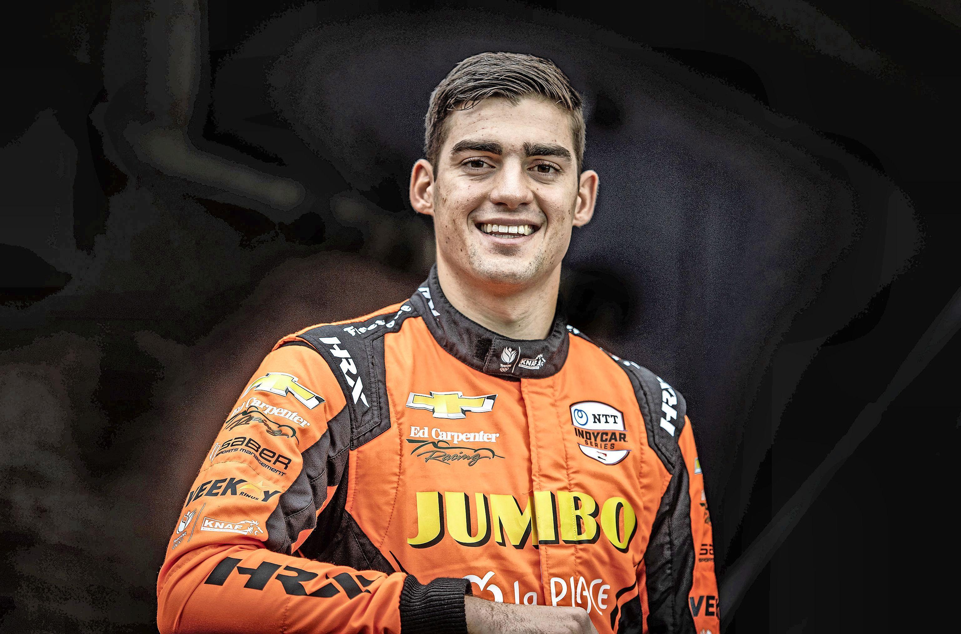 Coureur Rinus van Kalmthout tweede in knotsgekke Detroit Grand Prix [video]