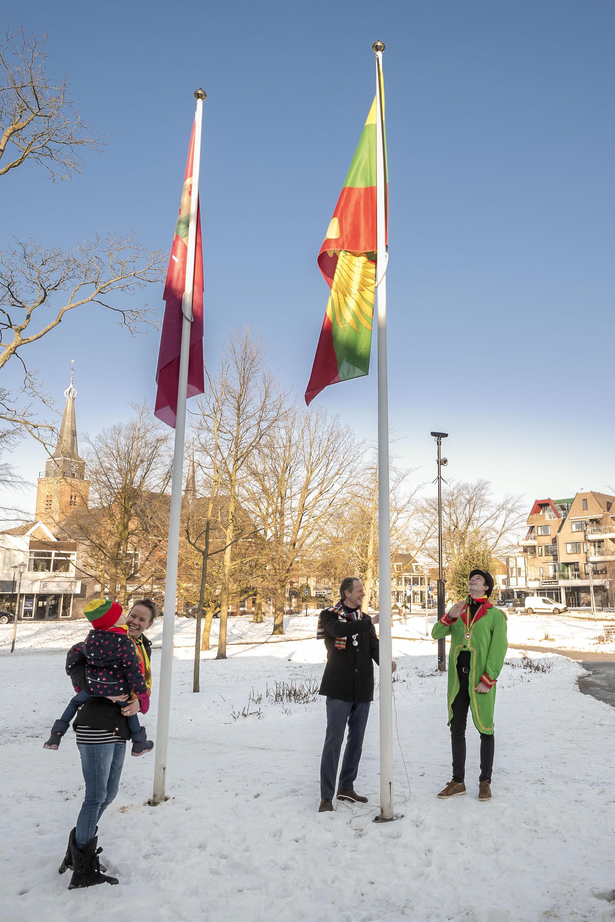 Geen carnaval dit jaar, maar wel carnavalsvlag in top in Hillegom