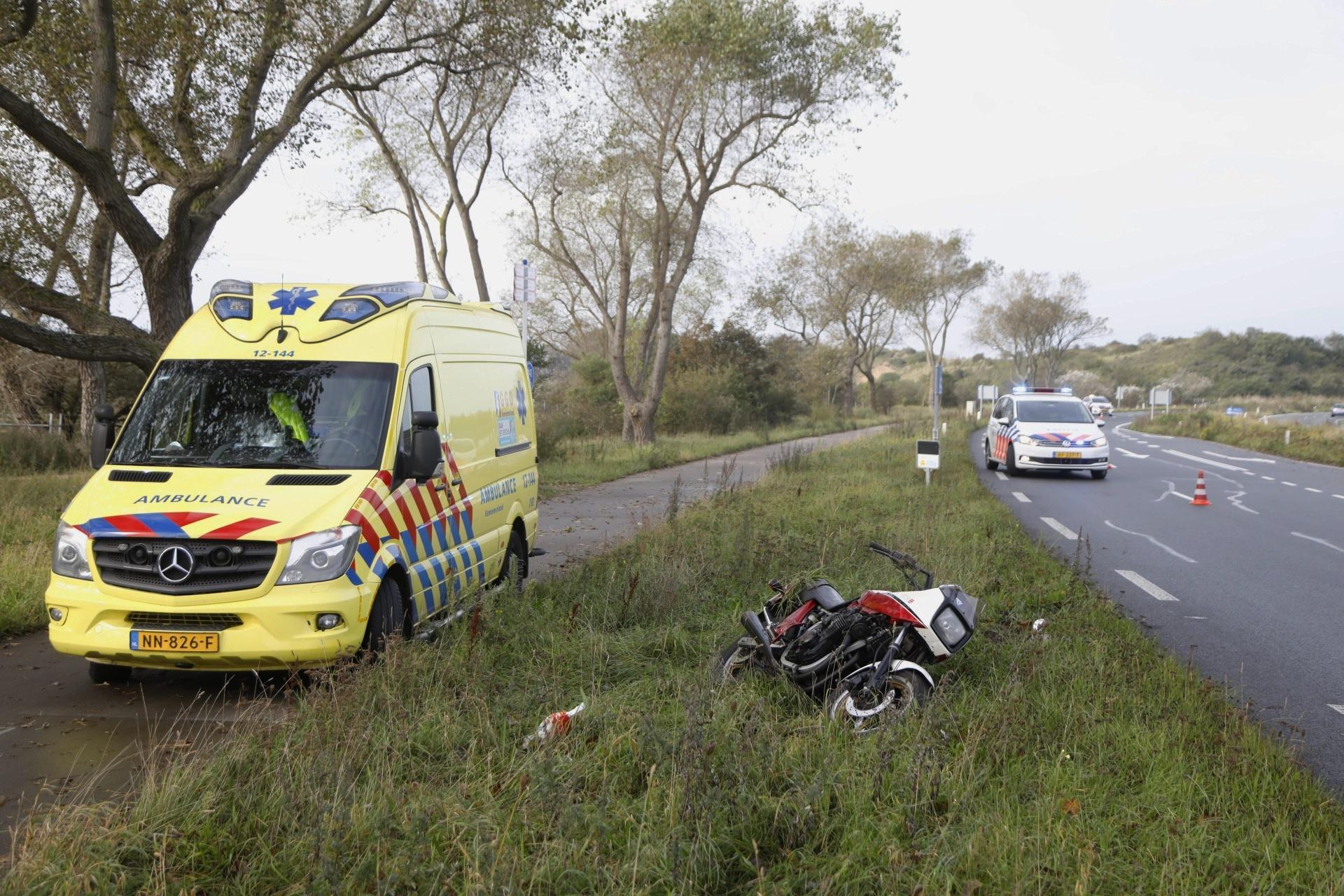 Motorrijder gewond bij botsing in Overveen