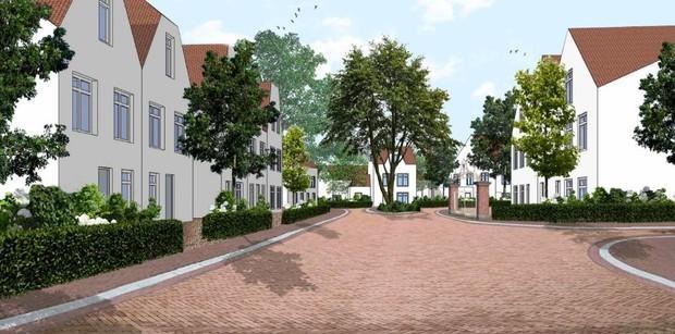 Streep door tweede fase nieuwbouwwijkje Baarn Centraal; bouw 21 woningen van de baan