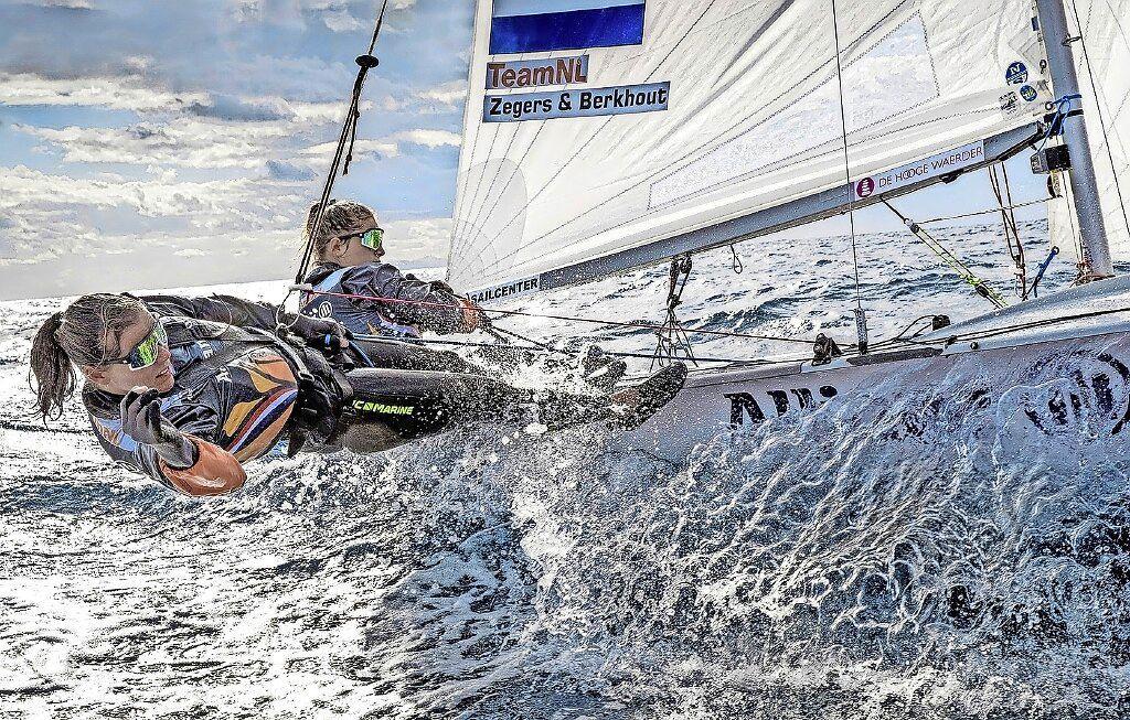 Zeilsters Zegers en Berkhout eindigen bij EK als zestiende
