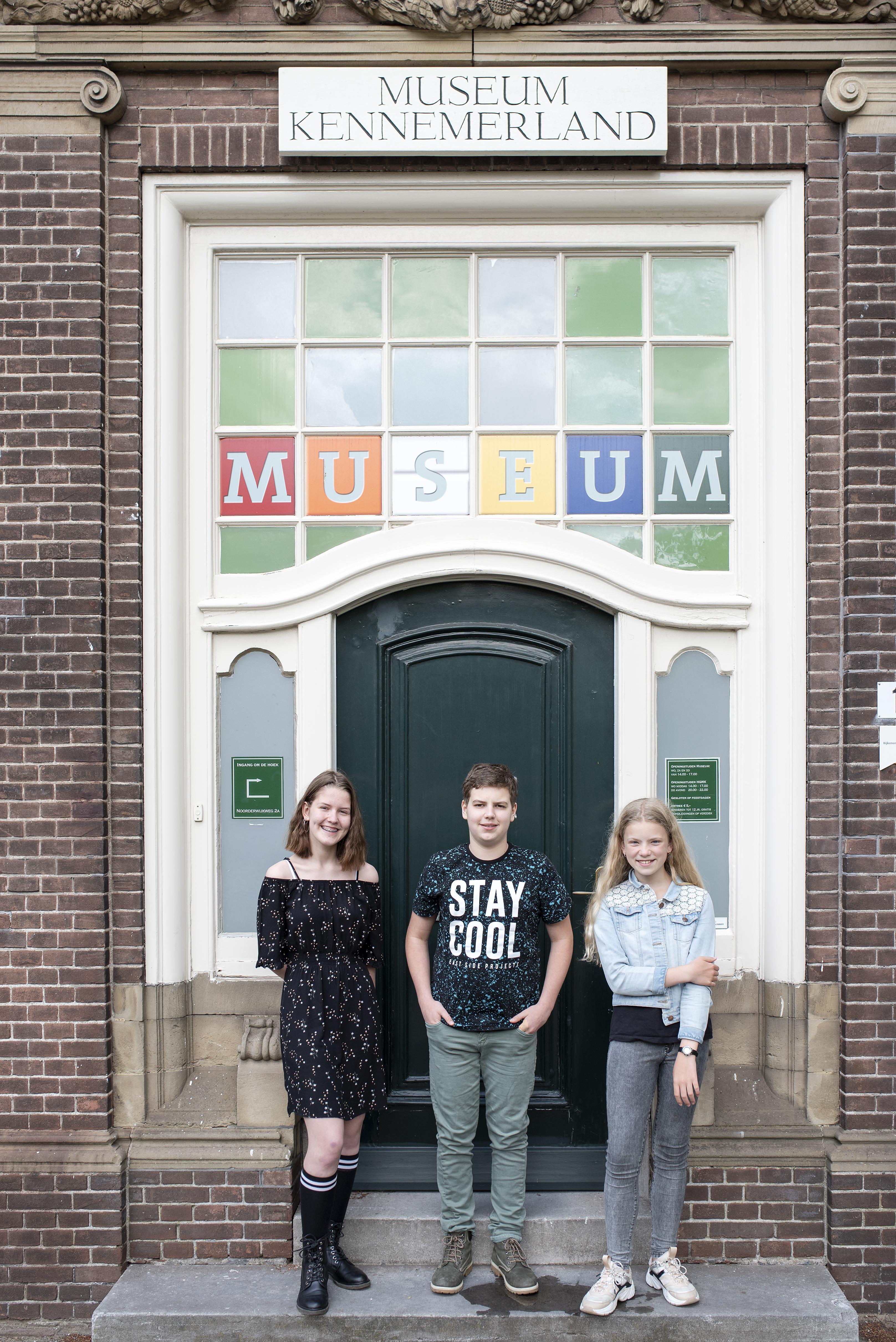 Jeugd maakt promotie voor Museum Kennemerland in Beverwijk: met eigen posters