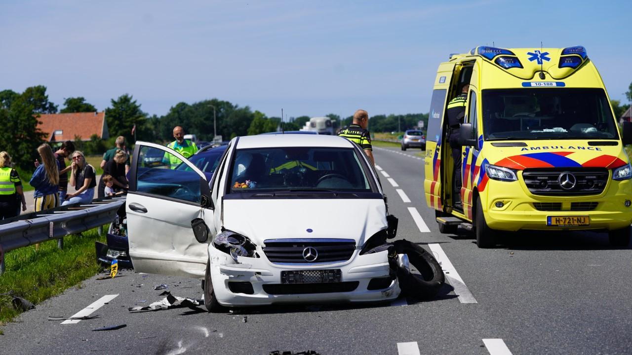 Vijf voertuigen betrokken bij ongeluk op de N9 bij Bergen