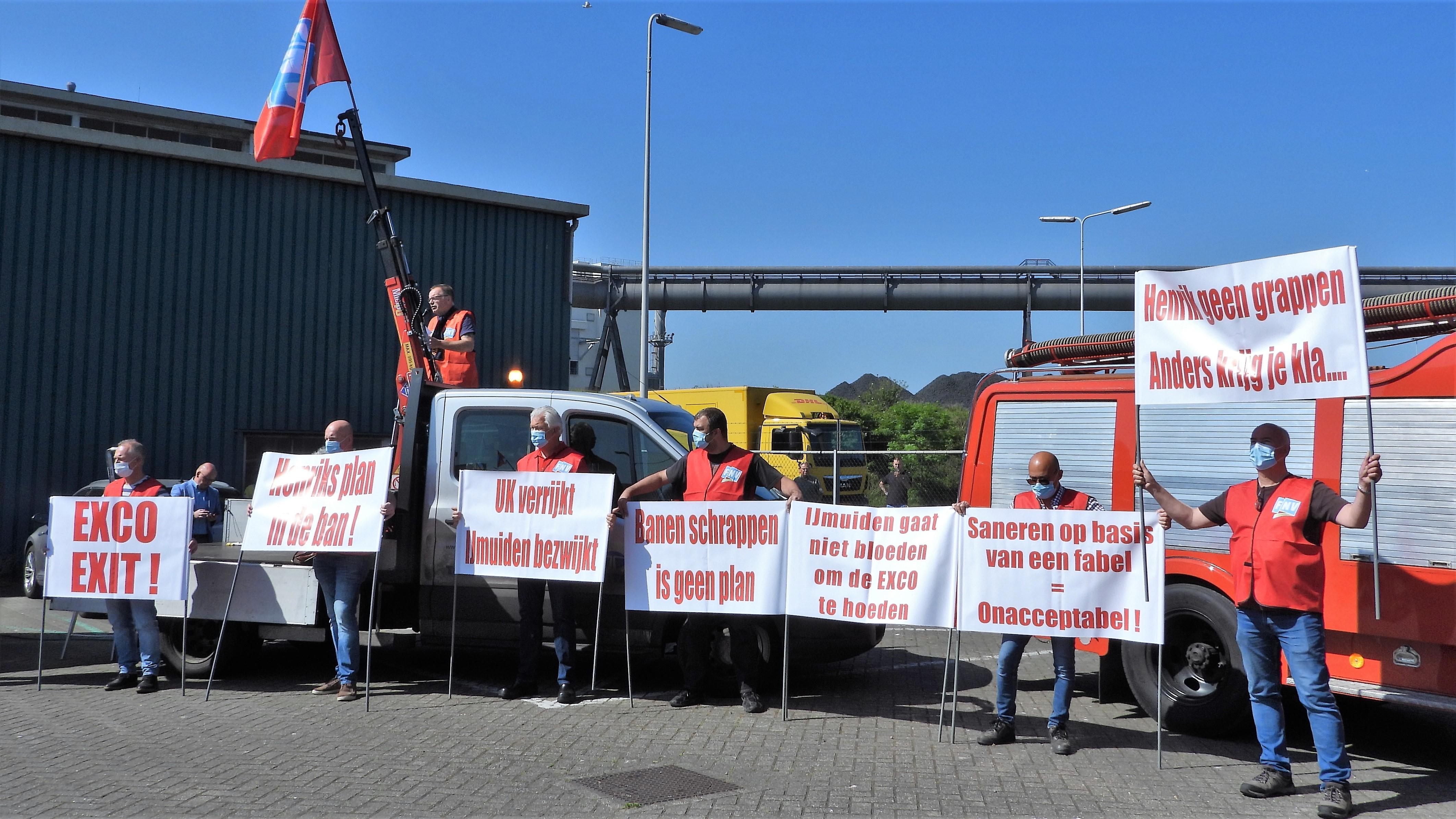 Lawaai als een oordeel bij 'toeterprotest' Tata Steel [video]