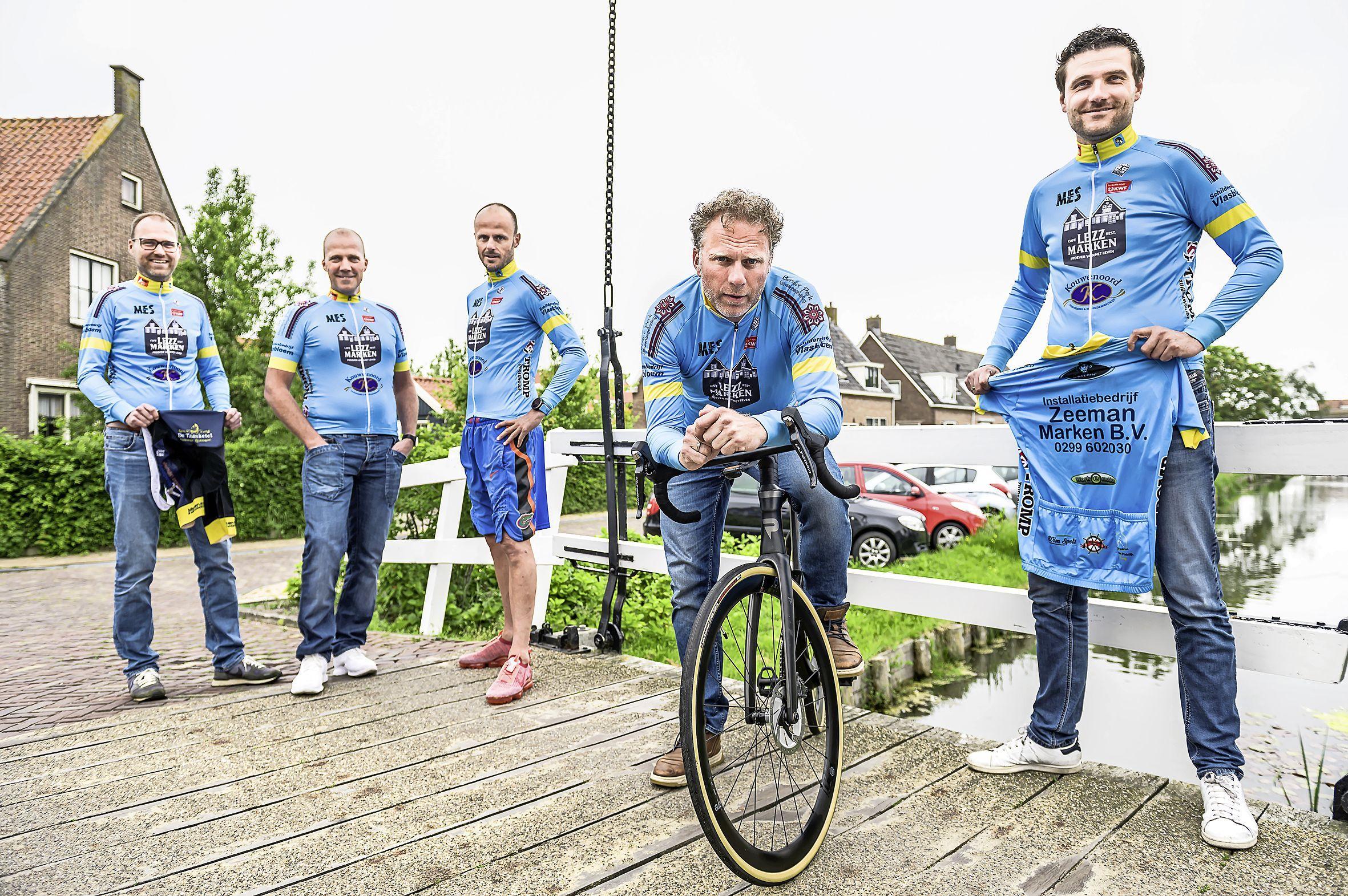 Monstertocht in Marker kleuren: 325 kilometer op de racefiets voor het goede doel