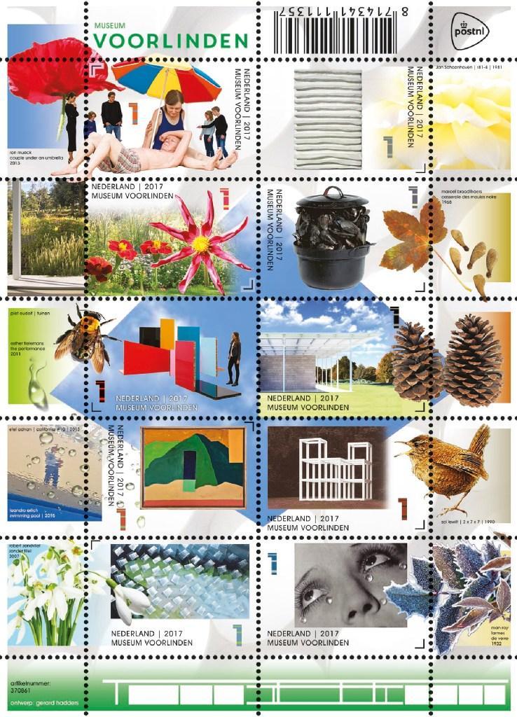 Postzegelvellen van Naturalis en Voorlinden