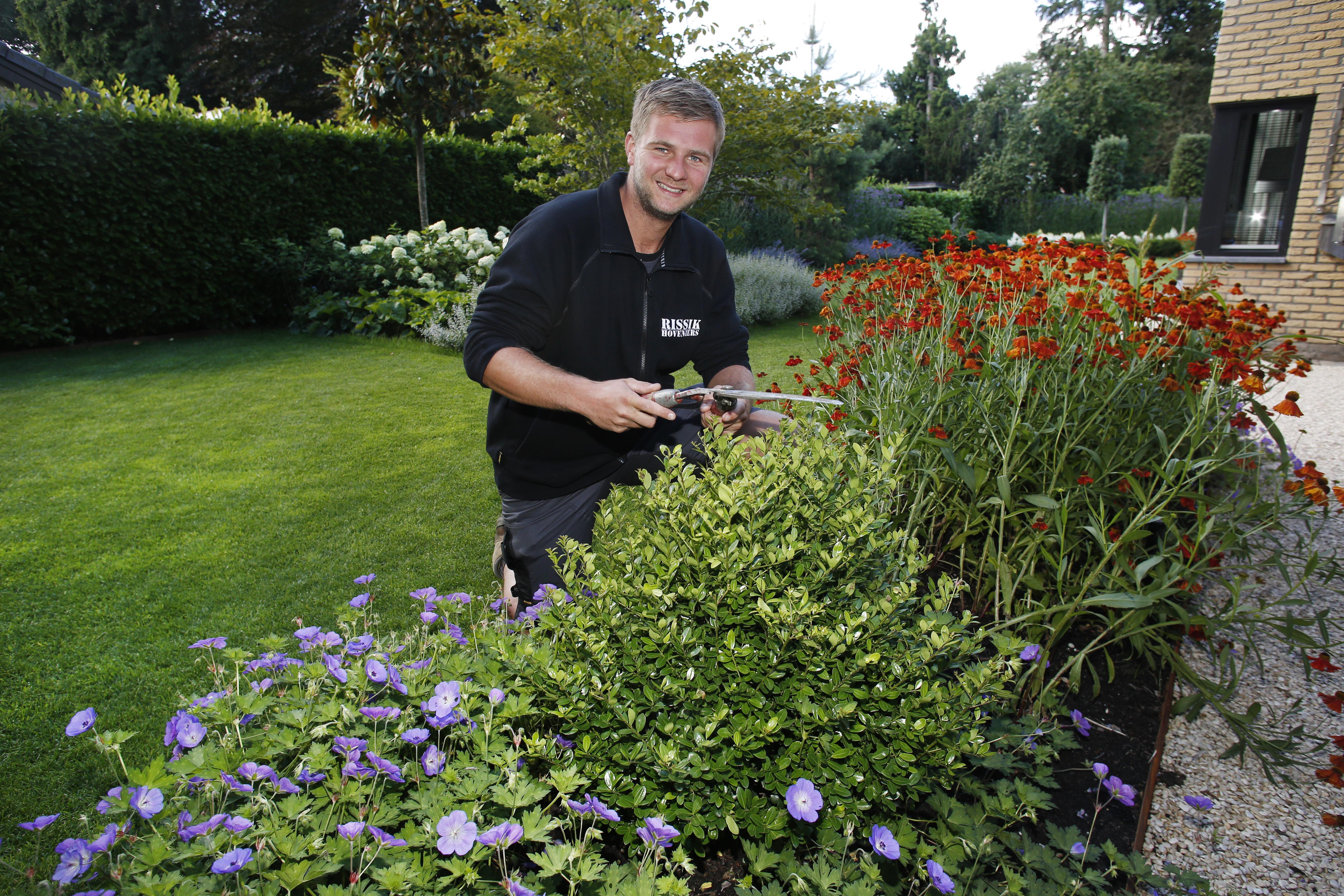 Jurriaan Rissik (24) van Rissik Hoveniers was vroeger al liever in de tuin bezig dan dat hij achter de computer zat