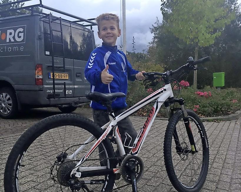 Ja! Kay (10) heeft zijn gestolen mountainbike terug, bericht 4500 keer gedeeld