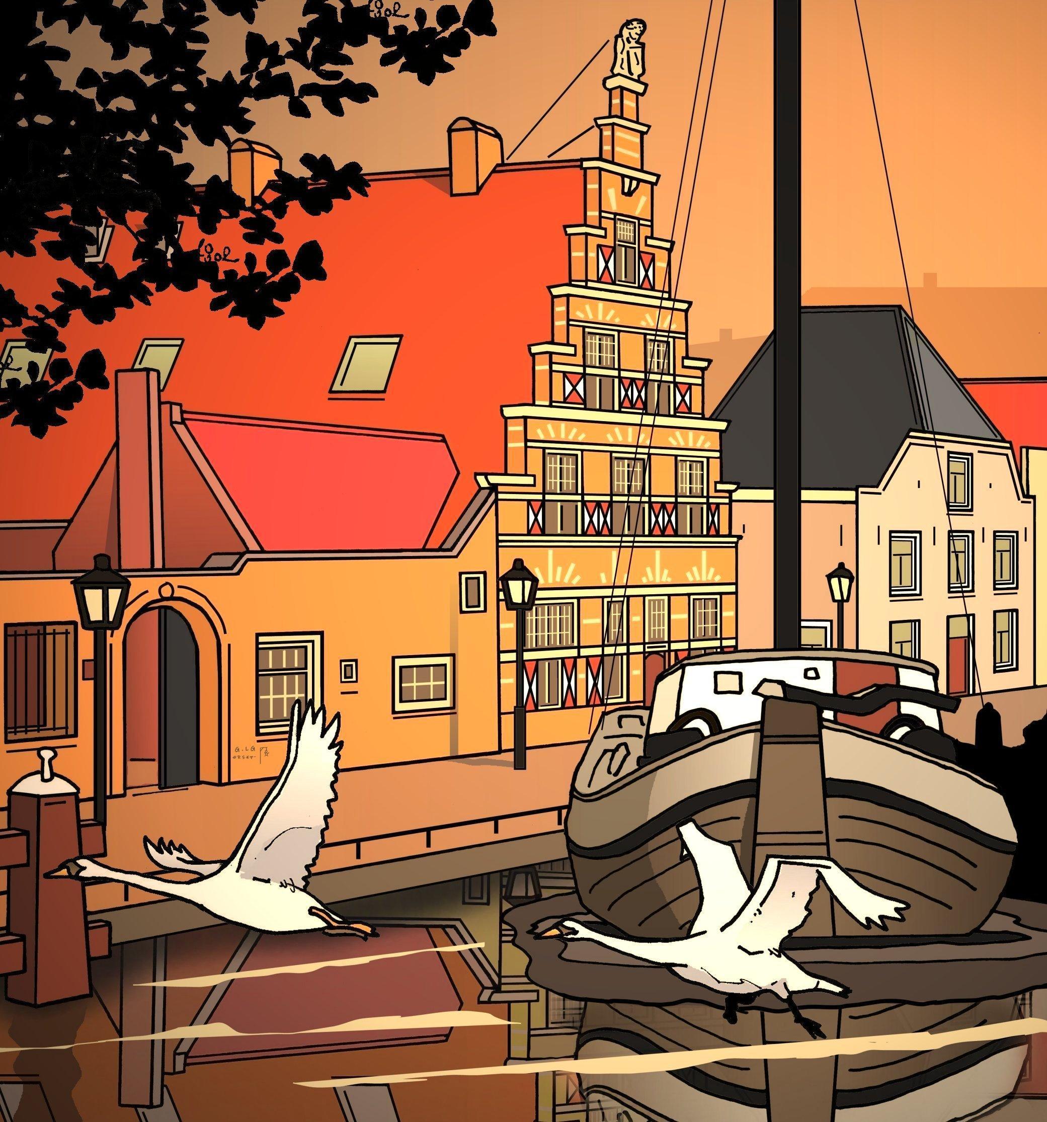 De stadstimmerwerf, hinderlijke industrie van vroeger is nu een benijdenswaardig huis   Leiden in Klare Lijn