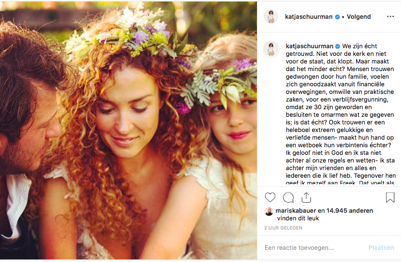 Katja Schuurman Gelooft Niet In Wettelijk Huwelijk