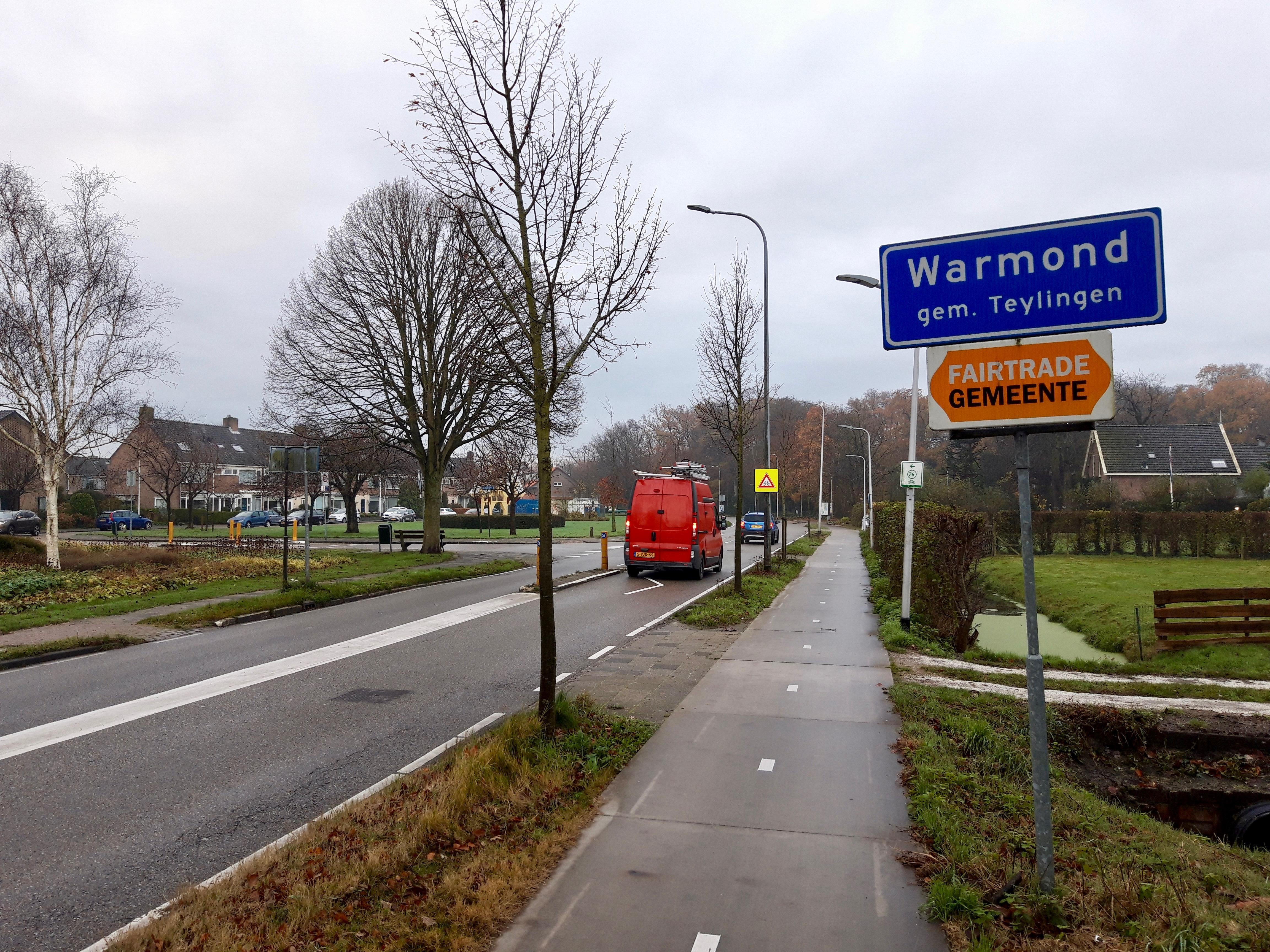 Alternatief VVD voor Herenweg Warmond: Schrap fietspad vanaf Beatrixlaan voor 30 kilometer