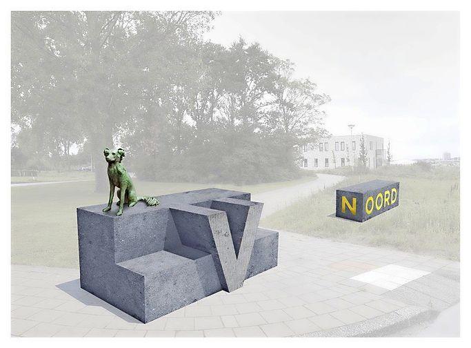 Honden gaan Alkmaarse wijk bewaken. Mondriaan Fonds betaalt de helft van een kunstwerk. Kosten: bijna 2 ton