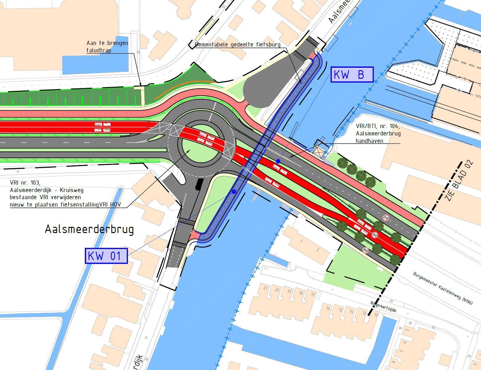 Bijzondere brug in Ringvaart Haarlemmermeer