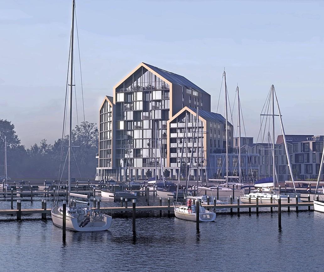 Het Riethuis wordt het nieuwe visitekaartje van Monnickendam; woontoren met 60 appartementen op het Galgeriet
