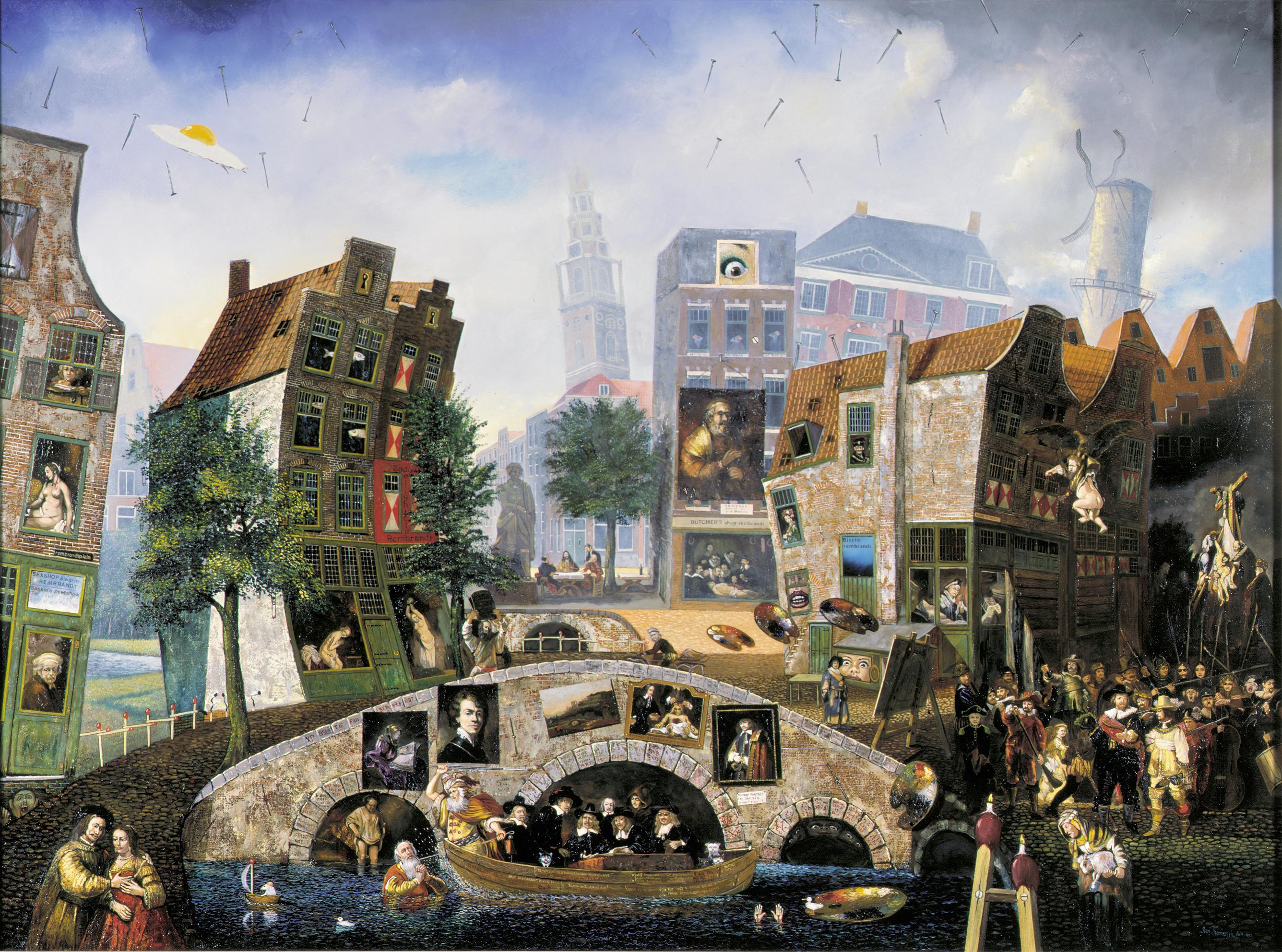 Jean Thomassen uit Heiloo wordt gezien als de Jeroen Bosch van onze tijd. De meester van het 'absurd realisme' wordt geëerd met een boek en een tentoonstelling