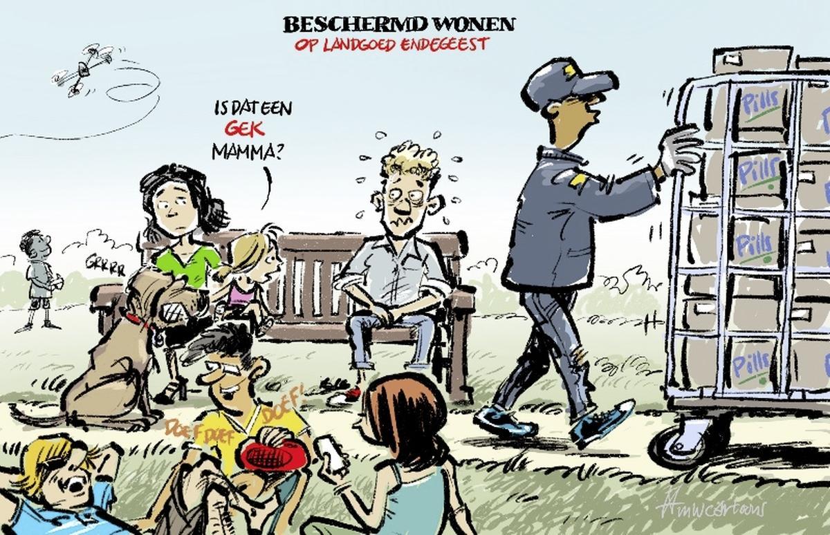 Cartoon: Rust Endegeest in het nauw