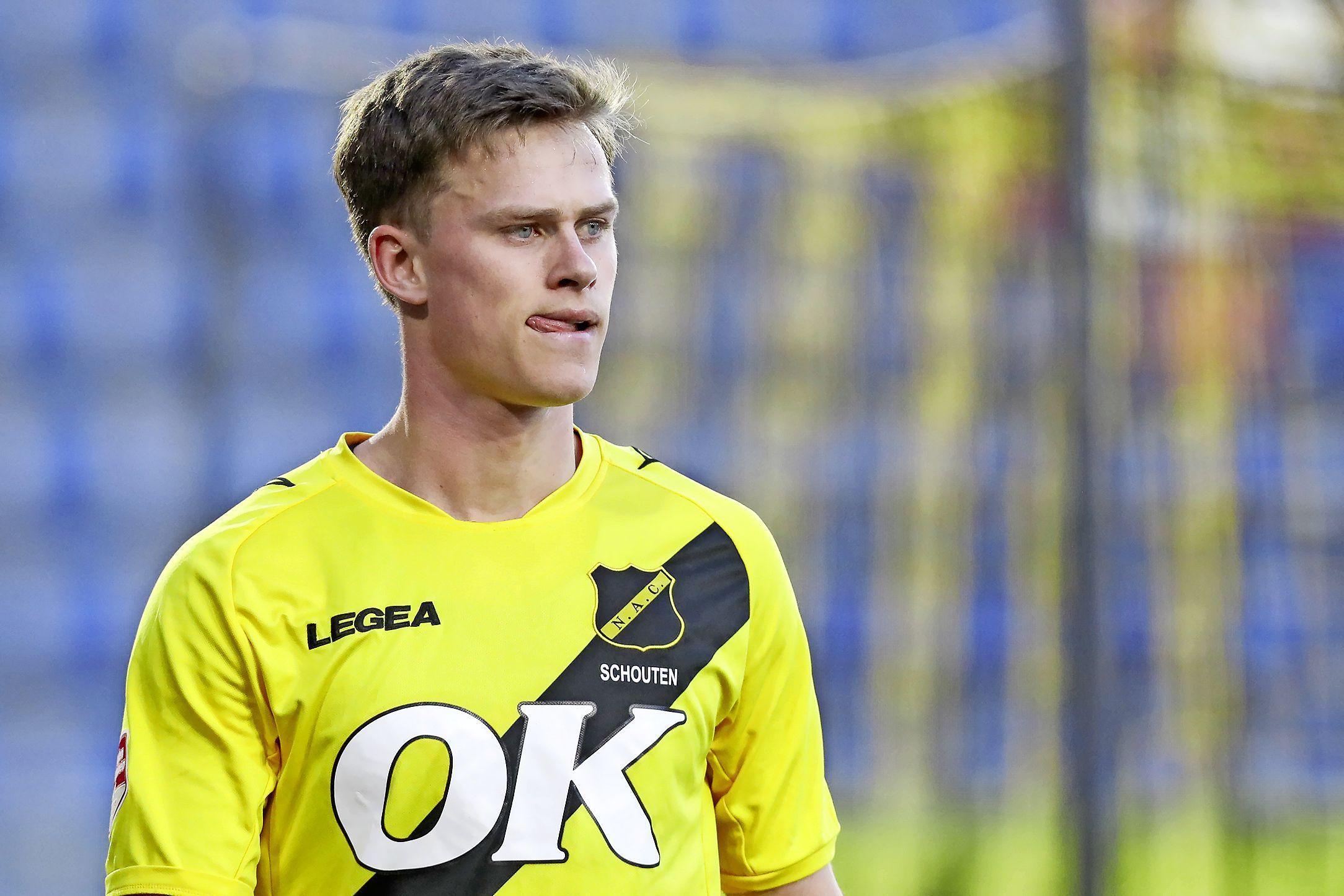 Robin Schouten geniet bij NAC van de Brabantse gezelligheid. Back uit Heiloo wil met club nu wel promoveren naar eredivisie