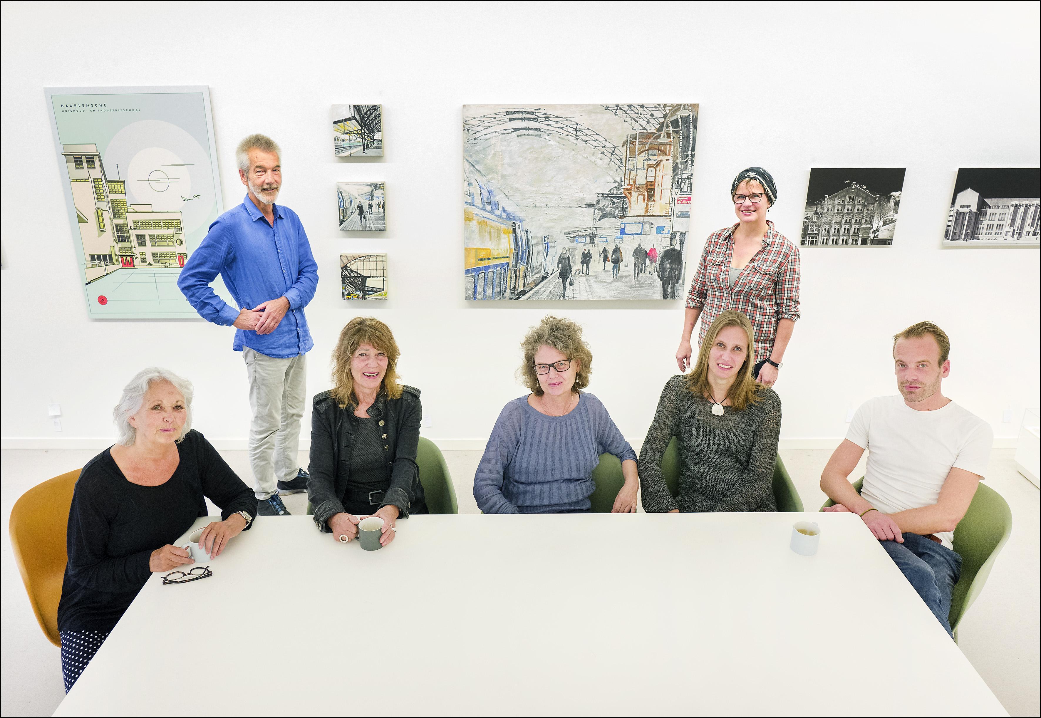 Kunstenaars eren 'hun' Spaarnestad in Kunst centrum Haarlem